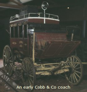An early Cobb and Co coach