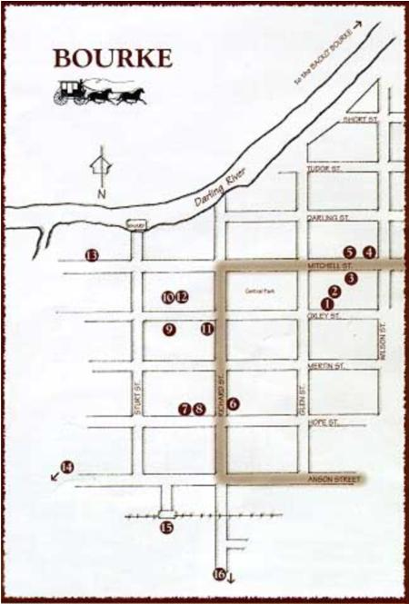 Bourke City Map